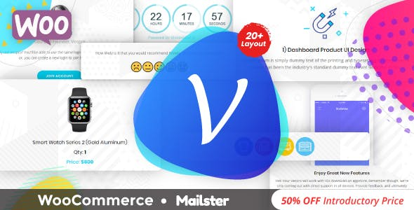 Vespro | WooCommerce Transactional Responsive Email Template + Mailster Compatible