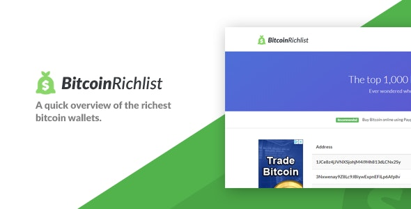 Bitcoin Richlist - CodeCanyon Item for Sale