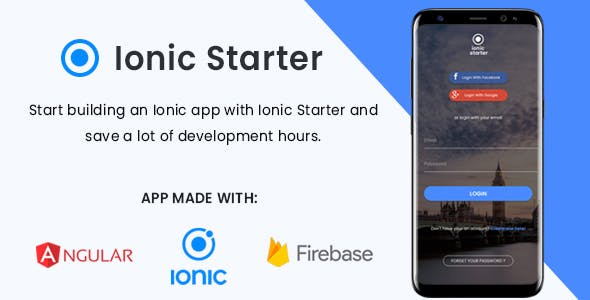 IonicStarter | Ionic App integrated with Firebase