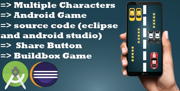 Speed Car :Android Game-Multiples characters-easy to reskin-and more - CodeCanyon Item for Sale