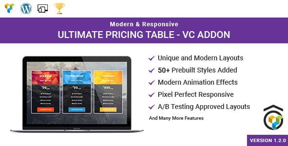 Ultimate Pricing Table for WPBakery Page Builder (formerly Visual Composer)