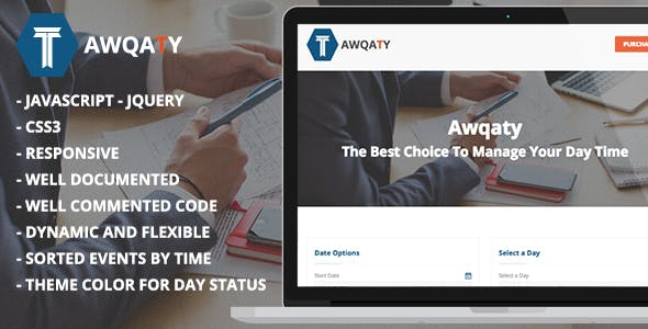 Awqaty - Time and Daily Events Management Plugin