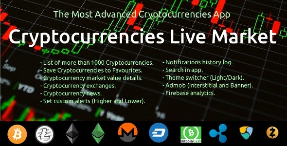 Cryptocurrencies Live Market APP - CodeCanyon Item for Sale
