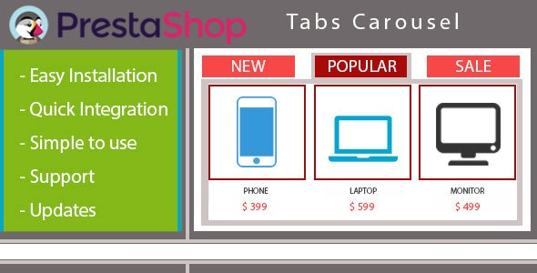 Home page Carousel with Products in Tabs - CodeCanyon Item for Sale