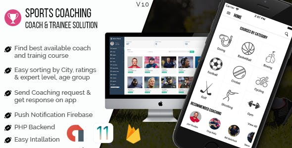 Sports coaching & training solution IOS application