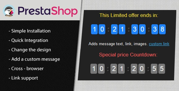 Prestashop Countdown Discount Timer Module - CodeCanyon Item for Sale