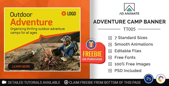 Tour & Travel | Adventure Camp Banner (TT005)