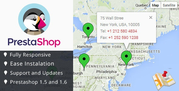 Google Map Module for Prestashop - CodeCanyon Item for Sale