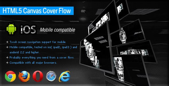 HTML5 Canvas Cover Flow