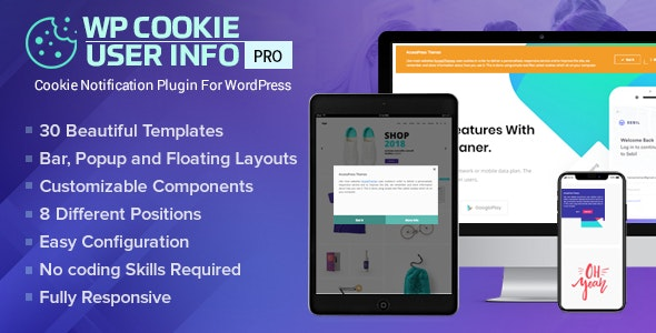 WP Cookie User Info Pro - Cookie Notification Plugin for WordPress - CodeCanyon Item for Sale