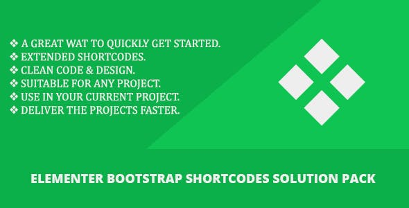 Elementer - Bootstrap Shortcodes Solution Pack