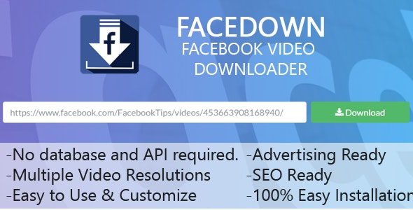 FaceDown - Facebook Hd Video Downloader by MobileEngineer