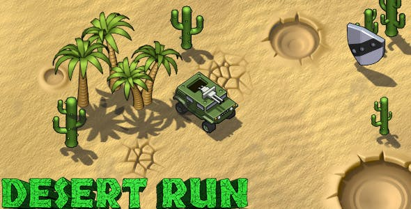 Desert Run - HTML5 Avoidance Game