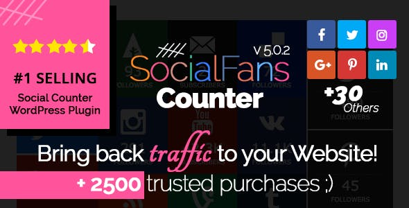 SocialFans - WP Responsive Social Counter Plugin        Nulled