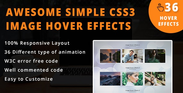 36 - Awesome CSS3 Image Hover Effects
