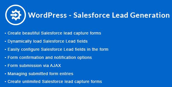 WordPress - Salesforce Lead Generation | WordPress - Salesforce Lead Capture - CodeCanyon Item for Sale