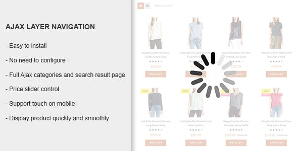 Ajax Layer Navigation - Magento 2