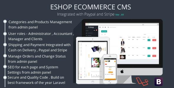 ESHOP Ecommerce CMS - CodeCanyon Item for Sale