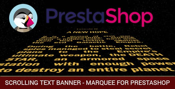 Marquee, Banners with Scrolling Text or/and Images and Video for Prestashop