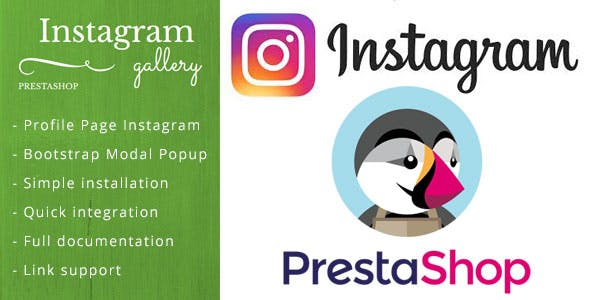 Instagram Feed, Gallery  for Prestashop