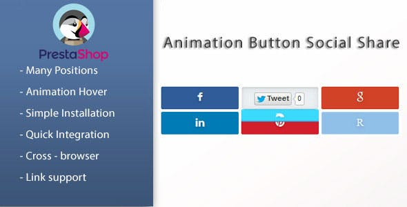 Animated Social Share Buttons  for Prestashop