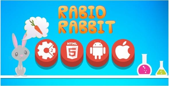 Rabid Rabbit - HTML5 Game + Mobile Version! (Construct-2 CAPX)