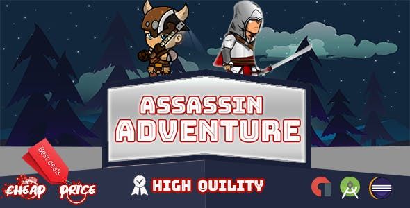 Assassin Adventure Game • Multi Levels&Character  + Admob
