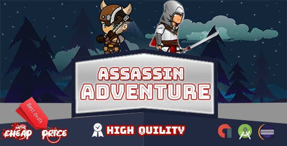 Assassin Adventure Game • Multi Levels&Character  + Admob - CodeCanyon Item for Sale