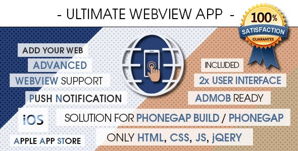 Ultimate Webview App - iOS [ AdMob & Push Notifications ]