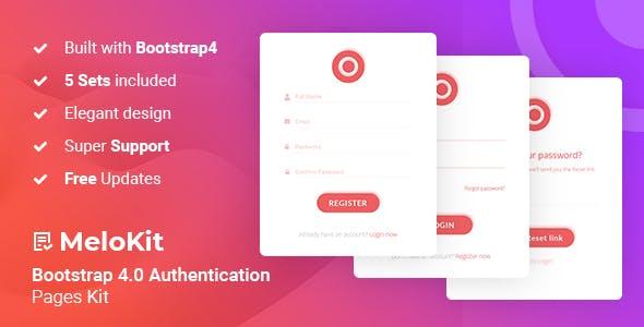 MeloKit - Bootstrap4 Authentication Pages Kit