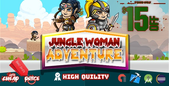 Jungle Woman Adventure (Admob+Android Studio+Eclipse) - CodeCanyon Item for Sale