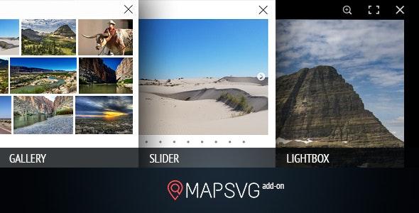 MapSVG.Gallery: gallery / slider / lightbox - add-on for MapSVG WordPress mapping plugin - CodeCanyon Item for Sale