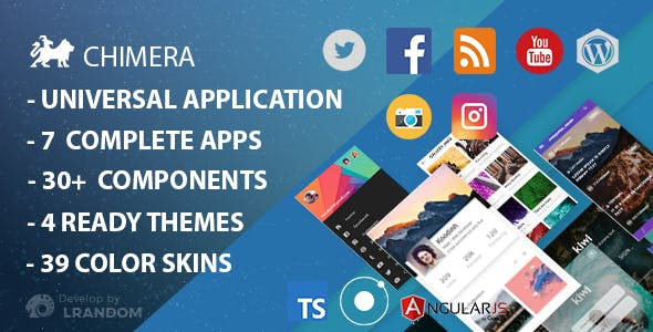 Chimera - Full Multi-Purpose Ionic 3 App, Theme, Component