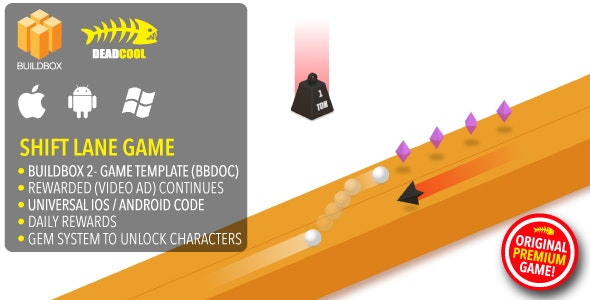 Shift Lane - BuildBox 2 Game Template Document - iOS / Android / BBDOC - CodeCanyon Item for Sale
