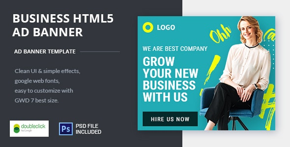 Business | HTML5 Google Banner Ad 20 - CodeCanyon Item for Sale