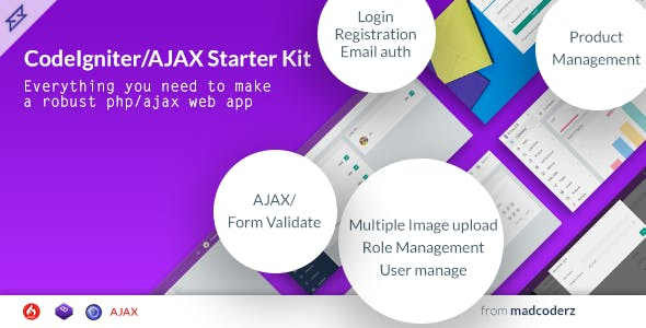 Steller - Codeigniter Starter Kit with Ajax