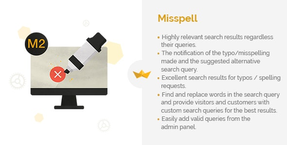 Misspell for Magento 2 by Webinse | CodeCanyon