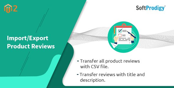 Import/Export Product Reviews Magento2 Extension