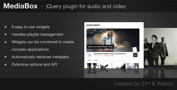 MediaBox - jQuery Plugin for Audio & Video - CodeCanyon Item for Sale