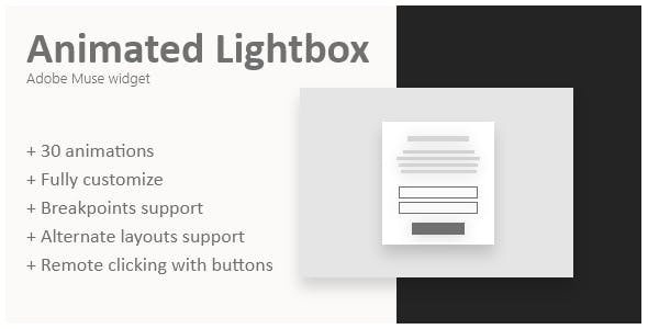 Animated lightbox | Adobe Muse widget