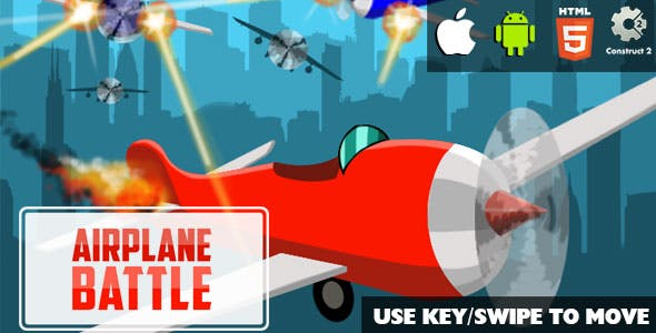 Airplane Battle - HTML5 Game (CAPX)