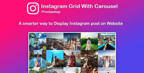 Instagram Feed Grid With Carousel for Prestashop