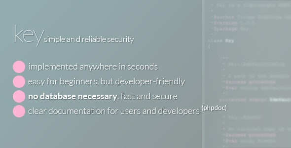 Key - Secure any page in seconds! - CodeCanyon Item for Sale