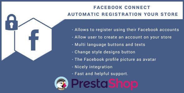 Facebook Connect for Prestashop, Login Button.