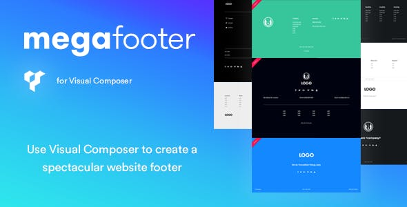 Mega Footer for Visual Composer