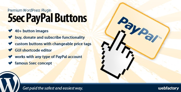 5sec PayPal Buttons - CodeCanyon Item for Sale