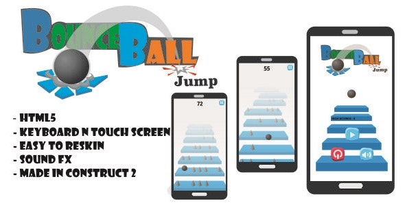 Bounce Ball - HTML5 Game (CAPX) - CodeCanyon Item for Sale