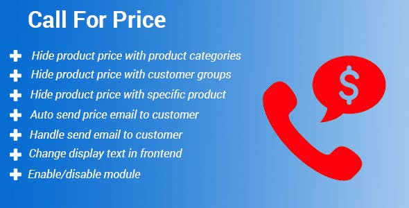 Magento 2 Call For Price