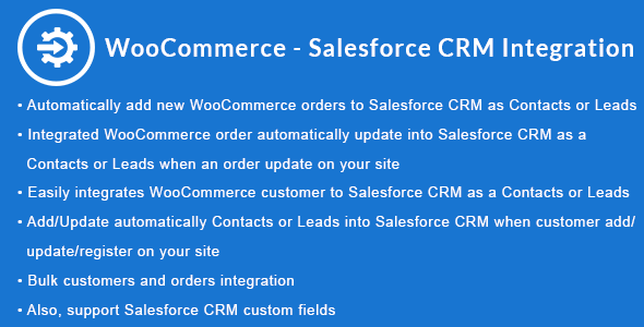 WooCommerce - Salesforce CRM Integration