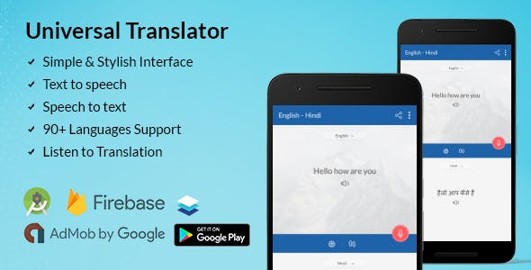 Make A Translator App With Mobile App Templates from CodeCanyon